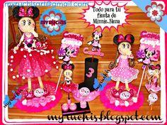 Fiesta Minnie, Centros de mesa infantiles, Invitaciones infantiles, Invitaciones Minnie, dulceros infantiles, dulceros Minnie, fiestas infantiles, ideas fiesta Minnie myruchis.blogspot.com