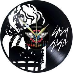 Vinyl Wall Clock LADY GAGA