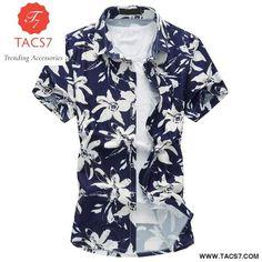 980dc81dc02fe Men s Apparel Shirt. Short Sleeve Hawaiian Shirt Slim Fit Summer New  Arrival Fashion Floral Print Mens Dress Shirts Plus Size ...