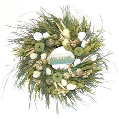 I pinned this Welcome Wreath from the Shelter Island Designs event at Joss and Main!
