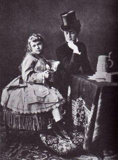 Archduchess Marie Valerie with her cousin Marie Larisch