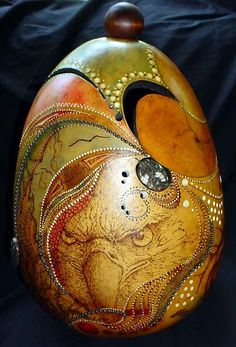 Dried Gourd Art by iris-flower