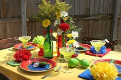 If it is a Mexican fiesta you want.it is a Mexican fiesta you will get.love the colors Mexican Dinner Party, Mexican Fiesta Party, Fiesta Theme Party, Party Themes, Party Ideas, Theme Ideas, Mexican Night, Mexican Stuff, Themed Parties