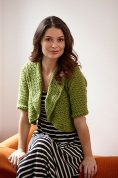 Crochet Round-About Cropped Cardi