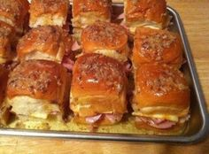 BEST DARN HAM SANDWICHES YOU'LL EVER HAVE!!! Recipe Donna Holsapple says Dr.Judson makes these.