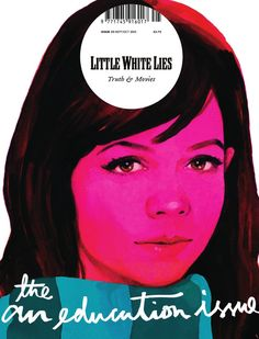 Michael Gillette illustrated cover for Little White Lies #25 - The An Education Issue by The Church of London