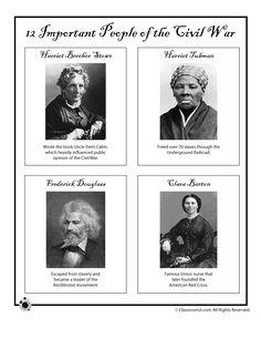 Civil War for Kids Civil War Influential African Americans and Women – Classroom Jr.
