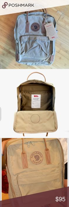 NWT Fjallraven Kanken #2 Brand new with tags trendy fjallraven kanken bag with leather detailing Fjallraven Bags Backpacks