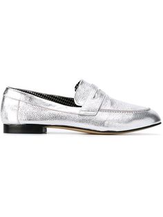 ROBERT CLERGERIE Metallic Penny Loafers. #robertclergerie #shoes #flats