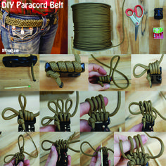Clear step by step instructions on how to make a paracord survival belt! #DIYReady
