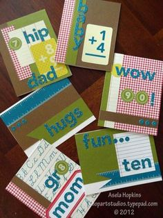 Cards made using SU! For the Record Simply Scrappin' Layout Kit.