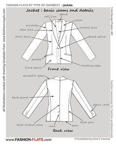 fashion technical portfolio front back details - Google-søgning