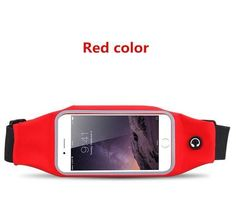 Universal 6 inch Waterproof Sport GYM Running Waist Belt Pack Phone Case Bag Armband for iPhone X 8 7 5 6 6s 7 Plus Samsung S7