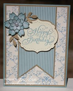 Crafty Nana's Blog: Happy Birthday with Stampin Up Labels Collection Framelits
