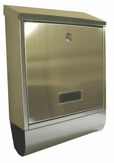 Letter Post Mail Box Post Box Letter Box Stainless Steel Wall Mounted 2 Keys | eBay