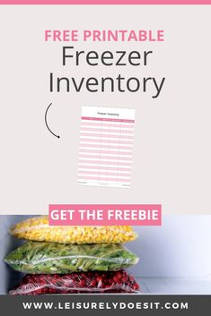 Use these simple freezer storage ideas to maximize the space you have for meat, frozen veggies and icecream. Grab the free Freezer Inventory printable. Freezer Storage, Freezer Meals, Freezer Inventory Printable, Storage Ideas, Organization Ideas, Food Storage, Kid Friendly Meals, Picky Eaters, Chest Freezer