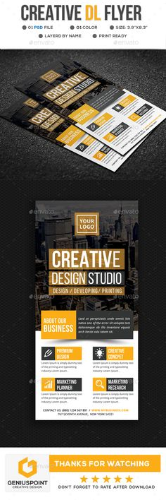 Creative DL Flyer Template PSD