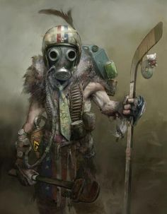 #Writing inspiration: post Apocalyptic character painting