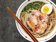 Soy-and-mirin–basted chicken thighs, spinach, and buckwheat noodles add heft to this Japanese-inspired version of chicken noodle soup.