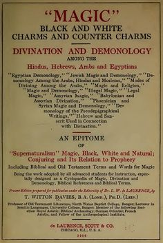 A cyclopedia of Magic Divination Demonology by CollectableMrJones