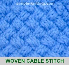 The woven cable stitch pattern is more challenging to knit and it produces a tight knit fabric but it also creates a lovely warm textured stitch pattern.