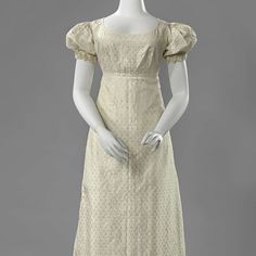 Wedding dress with puffed sleeves, Anonymous, 1822 - Rijksmuseum