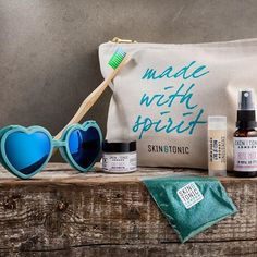 Happy Weekend!  Treat yourself to one of our exclusive 'Festival Survival Kits' including our favourite must-haves: Mini Calm Balm, Rose Mist, Naked Lipbalm, biodegradable glitter, @woobamboo toothbrush, a pair of @lovespecs and a stylish @skinandtonic__ washbag.  #festivalseason #cleanbeauty #organicskincare #greenbeauty #sustainable #instabeauty #festivalseason #bbloggers #madeinhackney