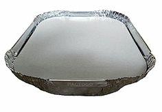 A78 13 oz. (3/4 lb.) Oblong Aluminum Foil Take-Out Pan w/Board Lid