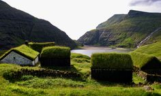 Faroe Island's Fairy Houses- The ancient Turf Roof Dwellings on the rainy island are just magic - retro pin Just Magic, Scandinavian Countries, Ancient Buildings, Going On Holiday, Rural Area, Faroe Islands, Fairy Houses, Log Houses, Where To Go