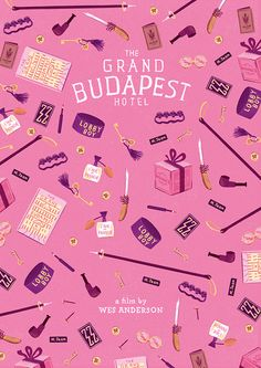 The Grand Budapest Hotel (2014) ~ Minimal Movie Poster by Andres Lozano ~ Wes Anderson Series #amusementphile