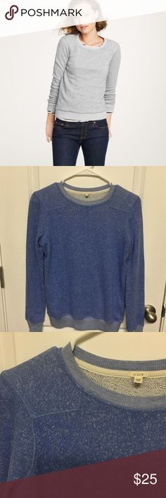 """J. Crew """"around town"""" blue pullover sweater Excellent condition! First picture shows how it would look on and styled. The color is blue! J. Crew Sweaters"""