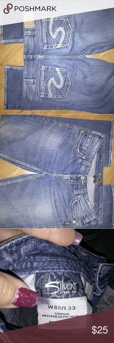 Silver jeans EUC, Silver jeans, very comfy. See comments for measurements. Silver Jeans Jeans