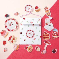 草莓甜點兔兔貼紙組