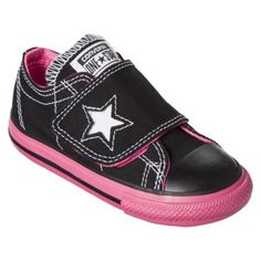 Toddler Girl's Converse® One Star® One Flap Sneaker - Black Pink