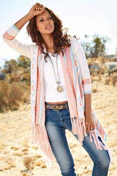 45196582a Womens Clothing & Fashion Online in Australia - EziBuy AU. Heine Tassel  Poncho ...