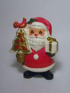 Vintage Christmas Napco Santa Claus partridge in Pear Tree Porcelain Figurine decoration Ornament Napcoware