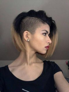 Choppy and Wavy Lob - 60 Inspiring Long Bob Hairstyles and Long Bob Haircuts for 2019 - The Trending Hairstyle Choppy Bob Hairstyles, Long Bob Haircuts, Undercut Hairstyles, Cool Hairstyles, Short Undercut, Bob With Shaved Side, Half Shaved Hair, Shaved Sides, Short Hair Cuts