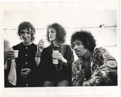 The Jimi Hendrix Experience, backstage at the Winterland, Oct 1968