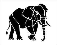 Elephant Stencil - Cliparts.co