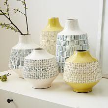 west elm has new home accessories. West Elm, Vase Centerpieces, Vases Decor, Pottery Vase, Ceramic Pottery, Slab Pottery, Thrown Pottery, Ceramic Painting, Ceramic Vase