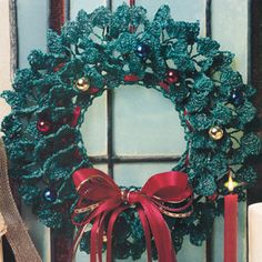 Evergreen Wreath Thread Crochet Pattern (ePattern Download)