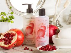 Pomegranate, Argan & Grapeseed -  Replenish your skin with anti-oxidant-rich pomegranate extract and the revitalising scents of citrus and fig.