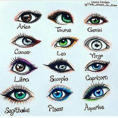 "Laura Mary ""I drew the signs as eyes Double tap yours and comment if your eye is like your sign❤Hope you like it☺"" 2020 homme ideal ideal sternzeichen verseau vierge zodiaque Zodiac Signs Astrology, Zodiac Star Signs, Zodiac Horoscope, Astrology Numerology, Numerology Chart, Cancer Zodiac Art, Scorpio Signs, Aquarius Astrology, Numerology Calculation"