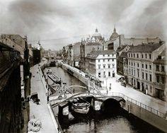 Kupfergraben und Jungfernbrücke (Mitte), 1909. Foto: Waldemar Titzenthaler.