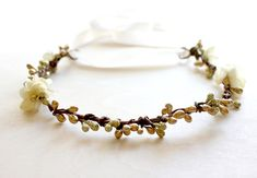 Gold & Ivory Flower Crown
