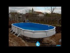 Como enterrar una piscina desmontable - YouTube