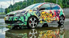 VW Polo graffiti style