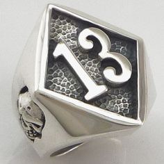 Friday the 13th, font design, lucky 13, ring, biker ring