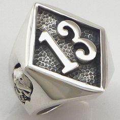 Number 13 Biker Ring