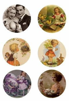"Free Bottle Cap Images: Vintage Easter 1"" inch free digital bottle cap ima..."
